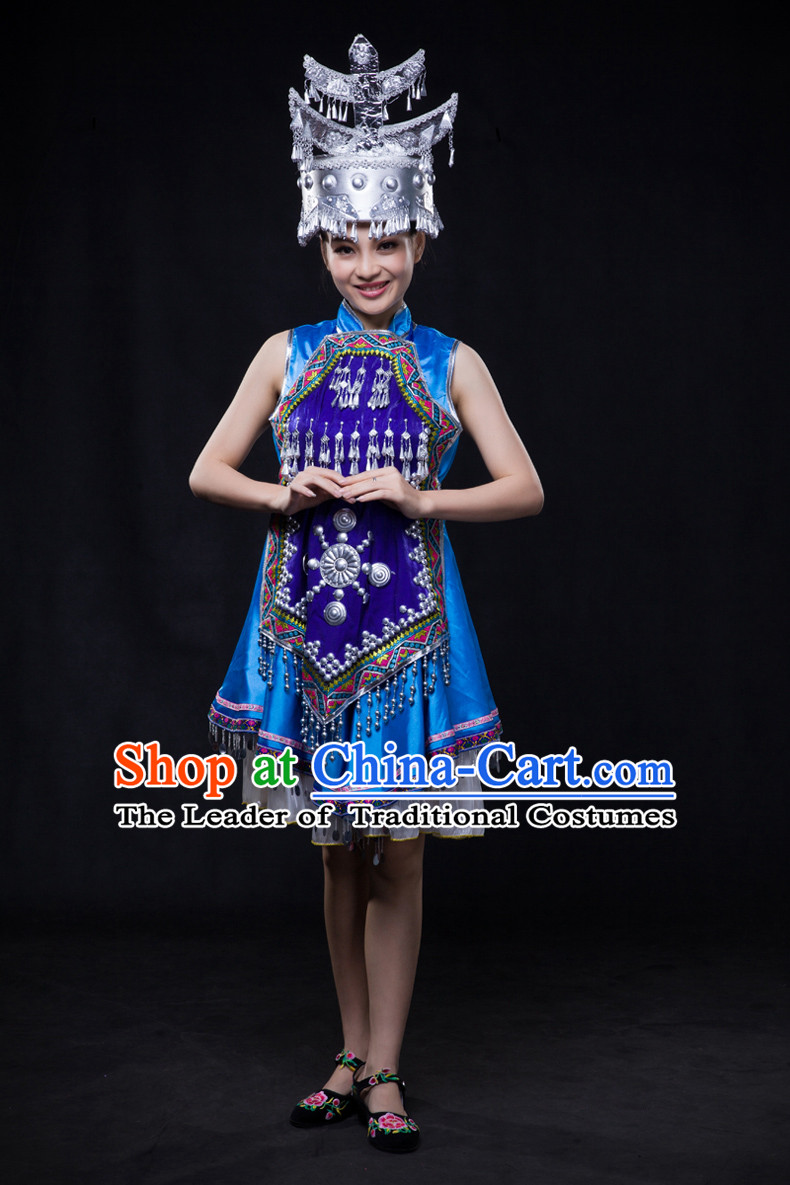 Miao Minority Women Dresses Ethnic Clothing Minority Dance Costume Minority Dress