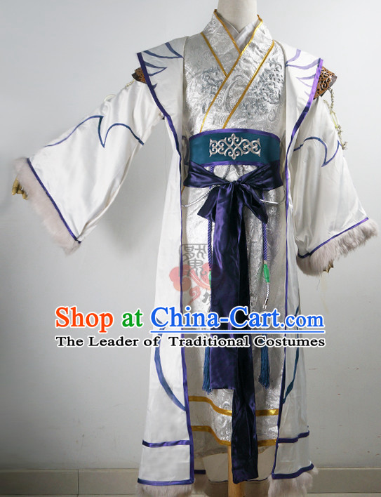 Ancient Chinese Emperor Costumes Empress Clothing Yue Fei Fisherman Traditional Costumes Complete Set for Men