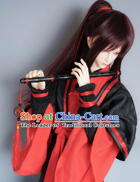 Ancient Chinese Swordsman Costumes Clothing Traditional Costumes Hanfu Complete Set