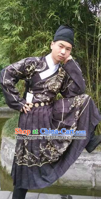 Traditional Chinese Ancient Ming Dynasty Dragon Robe Clothing Imperial Dresses Beijing Classical Chinese Clothing for Men