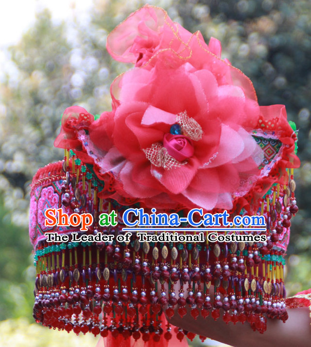 Hmong Minority Miao Clothing Ethnic Miao Minority Dance Costume Minority Dress Dance Miao Costumes Hat