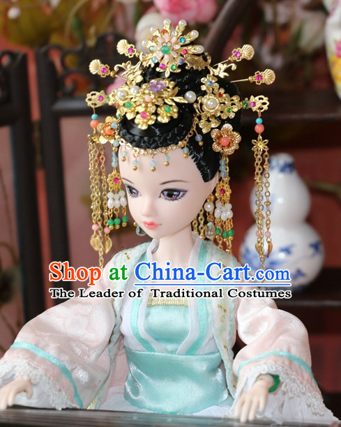 hair decorations Wig Set hair sticks thai clothes hair wig chinese crown men hat empress crown coolie hat wig STRAW HAT lace mandarin hat
