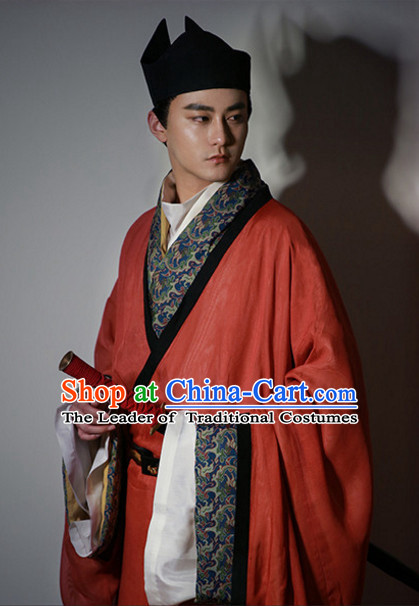 Special Events Ancient Chinese Official Han Fu Clothing Complete Set for Men
