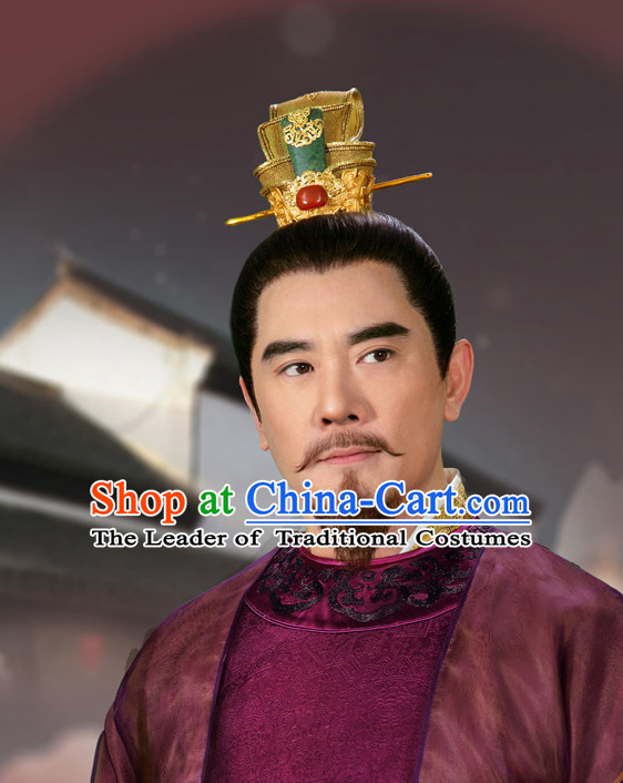 Ancient Chinese Emperor Coronet Crown