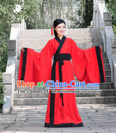 Traditional Chinese Han Dynasty Quju Hanfu Clothing Historical Dress Complete Set for Women Girls