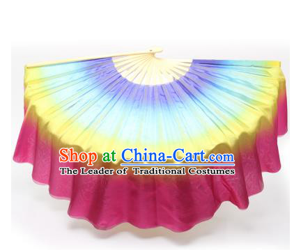 Pure Silk Traditional Chinese Fans Oriental Fan Folk Dance Hand Fan Dance Ribbons Cultural Dances