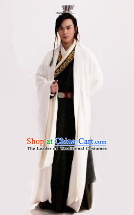 Traditional Chinese Ancient Men Costumes, Ancient Chinese Cosplay General Swordsmen Roayl Prince Embroidered Costume Complete Set for Men