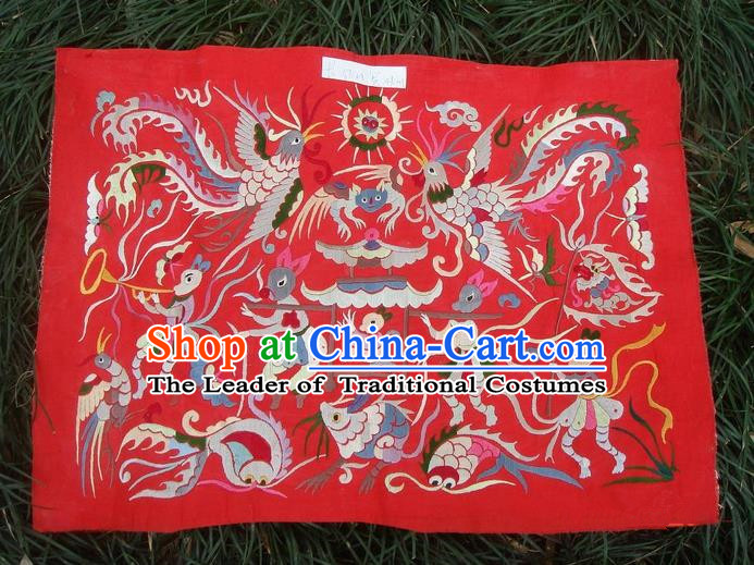 Traditional Chinese Miao Nationality Classic Hand Made Embroidery Flake-Phoenix