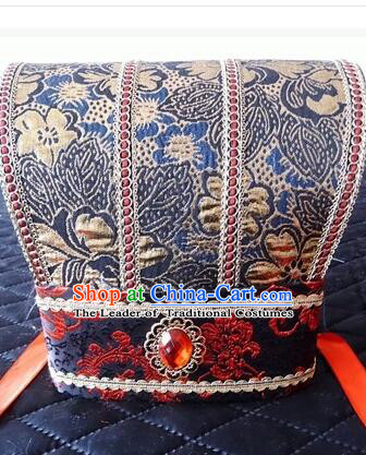 Ancient Chinese Play Property Head Wear Chinese Traditional Style Emperor Hat Officials Tiara