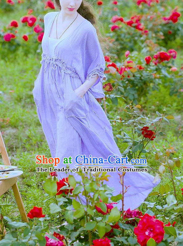 Traditional Classic Women Clothing, Traditional Classic Elegant Yarn Brought Restoring Boat Neck Even Garment Long Skirt