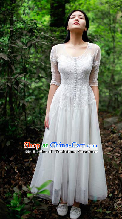 Traditional Classic Women Clothing, Traditional Classic Bride Heavy Lace Embroidery Evening Dress Restoring Garment Skirt Long Skirt