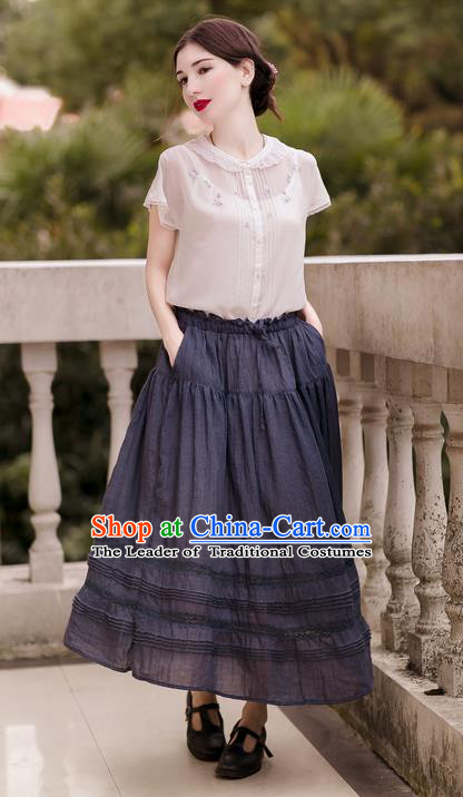 Traditional Classic Women Clothing, Traditional Classic Goffer Elegant Short Dress Restoring Garment Skirt Bust Skirt