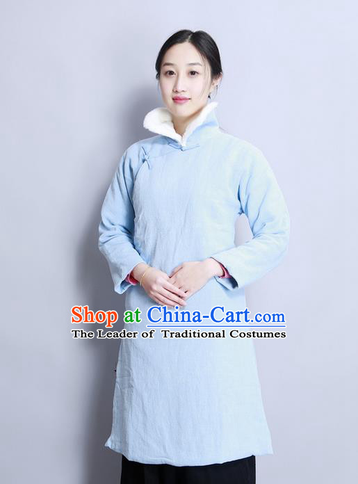 Traditional Chinese Female Costumes,Chinese Acient Clothes, Chinese Cheongsam, Tang Suits Fur Collar Blouse for Women