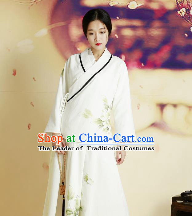 Traditional Chinese Female Costumes, Chinese Acient Clothes, Chinese Cheongsam, Tang Suits Slant Opening Plate Buttons Blouse for Women