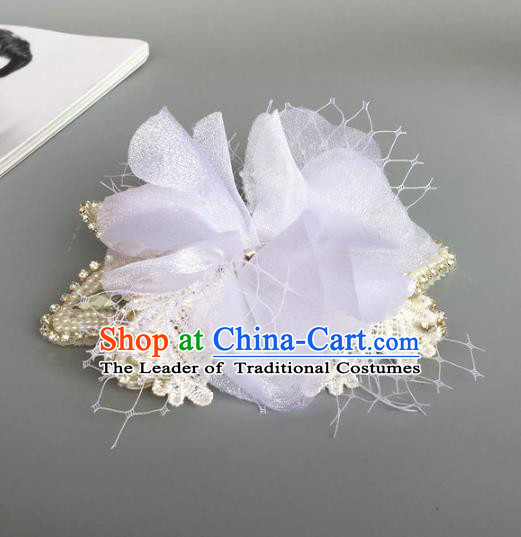 Top Grade Handmade Wedding Hair Accessories Crystal Headwear, Baroque Style Bride Hair Stick for Women
