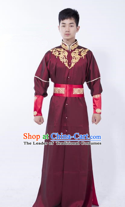 Traditional Ancient Chinese Swordsman Costume, Asian Chinese Tang Dynasty Kawaler Clothing for Men