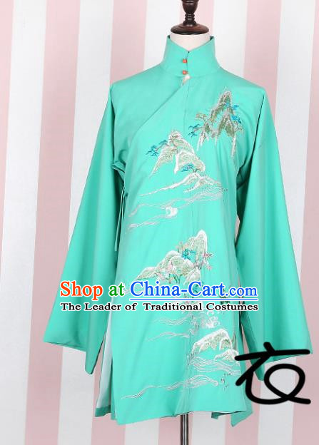 Asian China Ming Dynasty Palace Lady Costume Embroidered Green Blouse, Traditional Ancient Chinese Elegant Hanfu Princess Clothing for Women