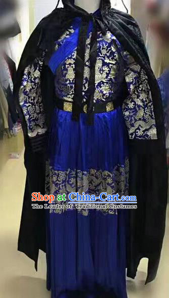 Traditional Ancient Chinese Imperial Guards Costume, Chinese Ming Dynasty Swordsman Embroidered Clothing for Men