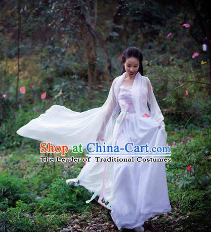 Traditional Ancient Chinese Imperial Princess Fairy Costume, Elegant Hanfu Clothing Chinese Tang Dynasty Imperial Concubine Clothing for Women