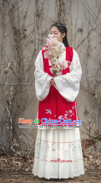 Traditional Chinese Ming Dynasty Imperial Concubine Costume Complete Set, Asian China Ancient Palace Lady Hanfu Dress Clothing for Women