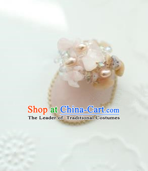 Traditional Korean Accessories Pink Brooch for Women