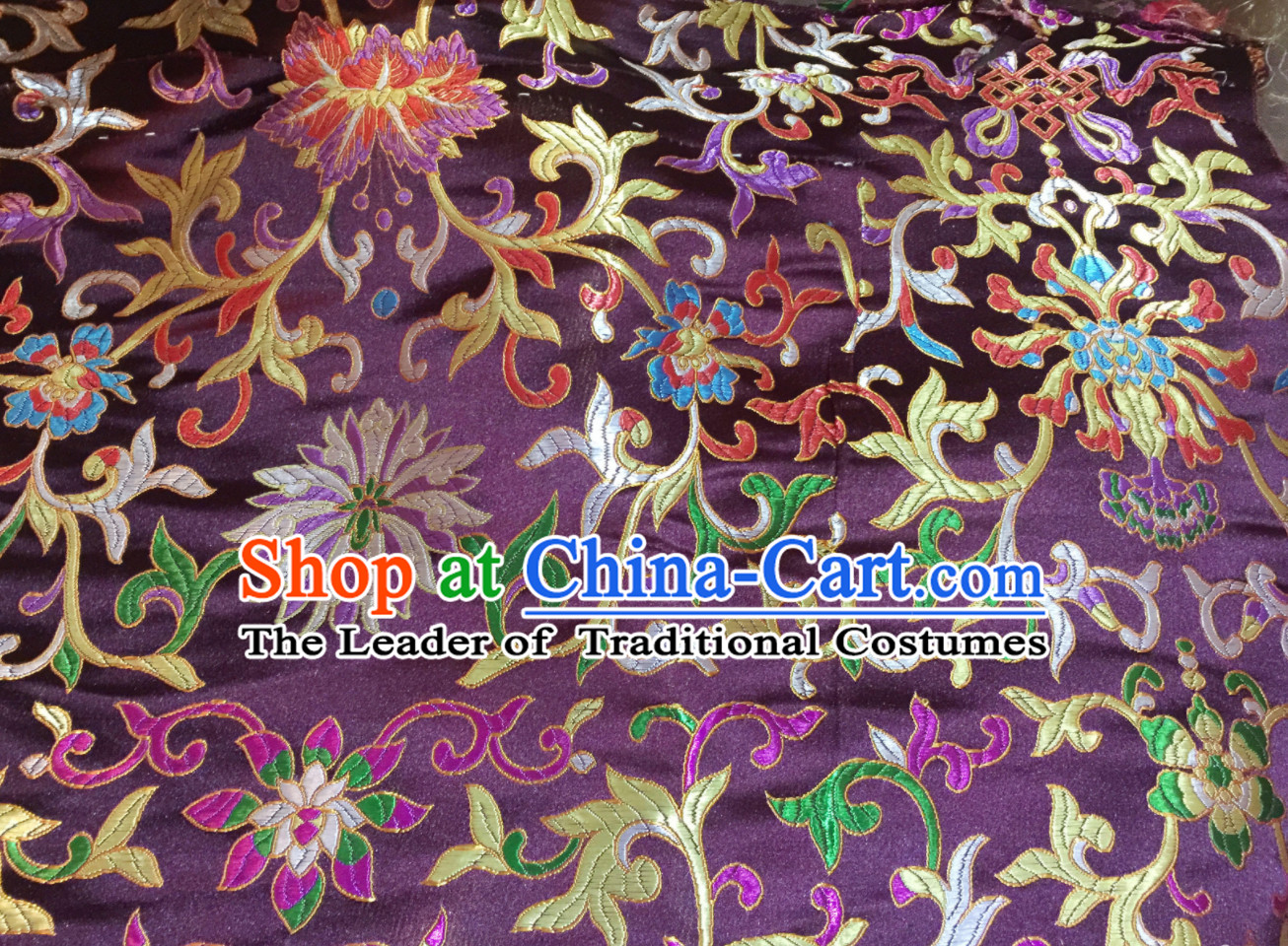 Purple Color Chinese Traditional Pattern Design Brocade Fabric Silk Fabric Chinese Fabric Asian Material