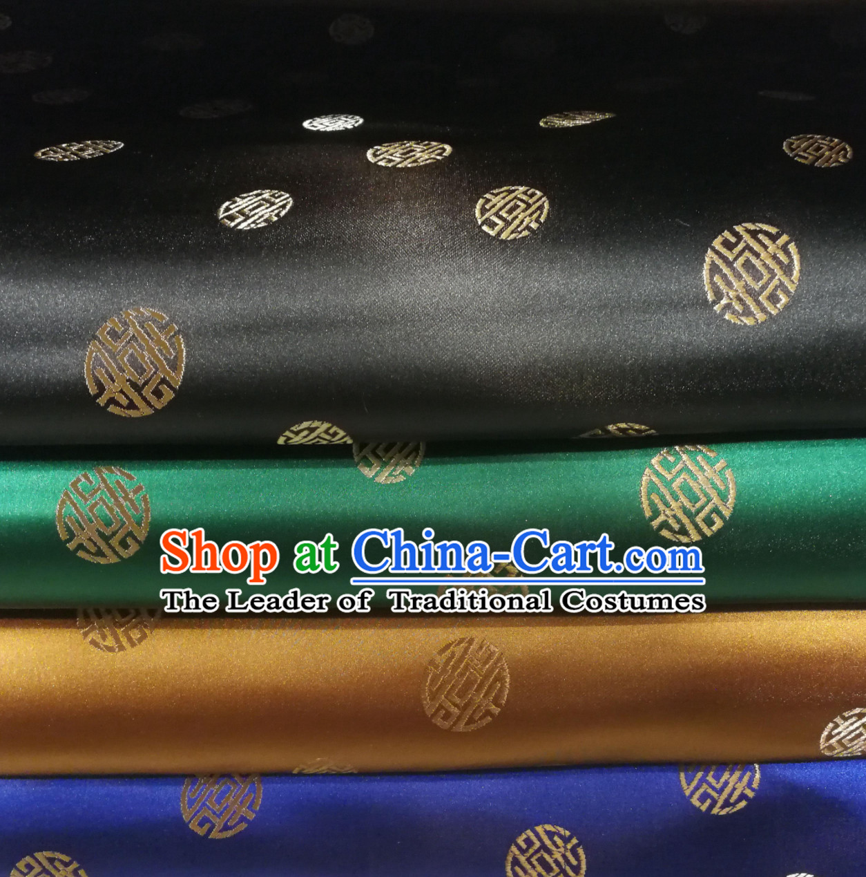 Chinese Royal Palace Style Traditional Pattern Design Brocade Fabric Silk Fabric Chinese Fabric Asian Material