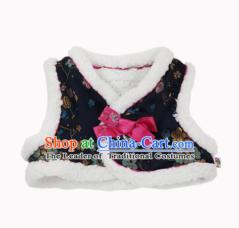 Asian Korean National Handmade Formal Occasions Wedding Bride Clothing Embroidered Vest Hanbok Costume for Kids