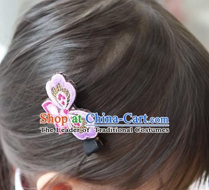 Traditional Korean Hair Accessories Embroidered Hair Stick, Asian Korean Fashion Headwear Wedding Headwear for Kids