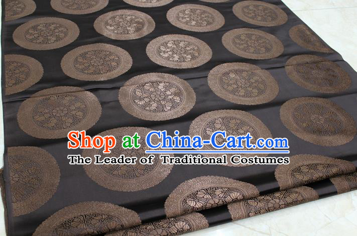 Chinese Traditional Ancient Costume Palace Pattern Mongolian Robe Brown Brocade Tang Suit Fabric Hanfu Material