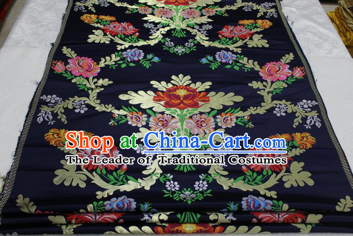 Chinese Traditional Ancient Costume Palace Pattern Cheongsam Nanjing Brocade Tang Suit Fabric Hanfu Material