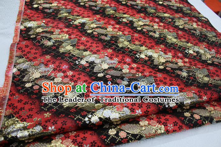 Chinese Traditional Ancient Costume Palace Pattern Cheongsam Black Brocade Tang Suit Fabric Hanfu Material