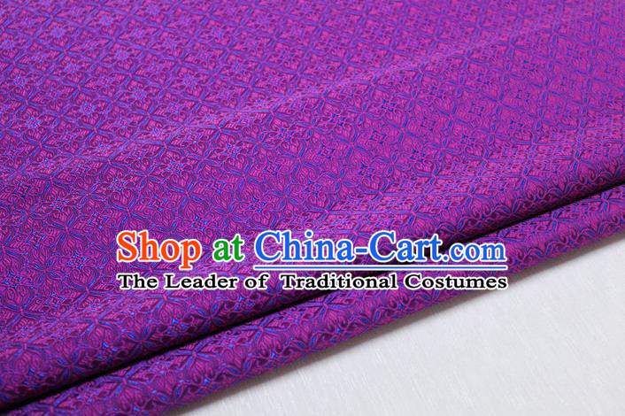 Chinese Traditional Ancient Costume Palace Pattern Cheongsam Curtain Purple Brocade Tang Suit Fabric Hanfu Material