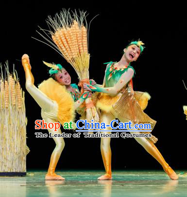 Traditional Chinese Classic Stage Performance Dance Costume, Folk Dance Drum Dance Uniform Yangko Clothing for Kids