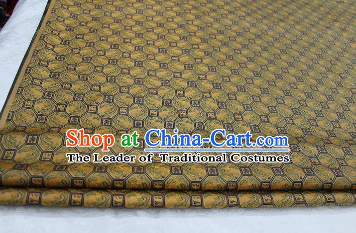 Chinese Traditional Ancient Costume Palace Pattern Cheongsam Song Brocade Xiuhe Suit Satin Fabric Hanfu Material