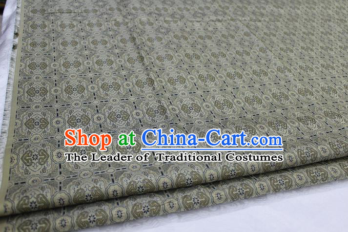 Chinese Traditional Ancient Costume Palace Pattern Mongolian Robe Bronze Brocade Tang Suit Satin Fabric Hanfu Material
