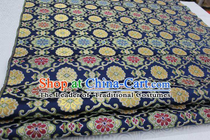 Chinese Traditional Ancient Costume Royal Palace Pattern Tibetan Robe Brocade Tang Suit Satin Fabric Hanfu Material