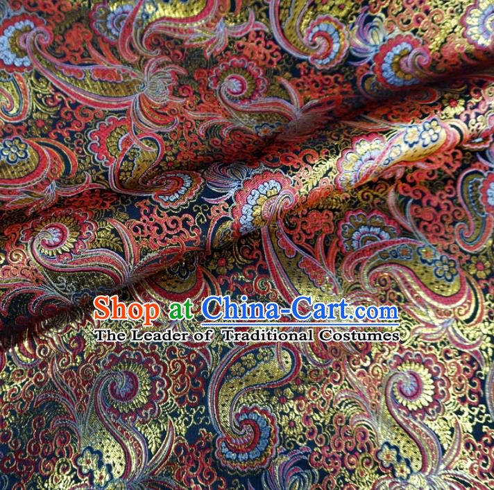 Chinese Traditional Clothing Royal Court Pattern Tang Suit Brocade Ancient Costume Cheongsam Satin Fabric Hanfu Material