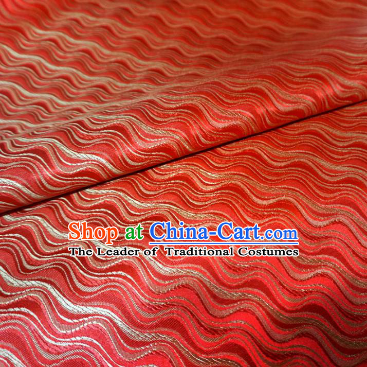 Chinese Traditional Royal Court Pattern Red Brocade Xiuhe Suit Fabric Ancient Costume Tang Suit Cheongsam Hanfu Material