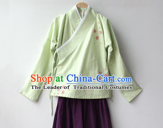 Traditional Chinese Ancient Ming Dynasty Princess Hanfu Costume Embroidered Blouse for Women