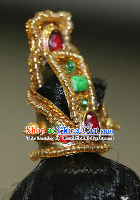 Chinese Traditional Silk Figurine Doll Hair Accessories Royal Highness Crown Headwear