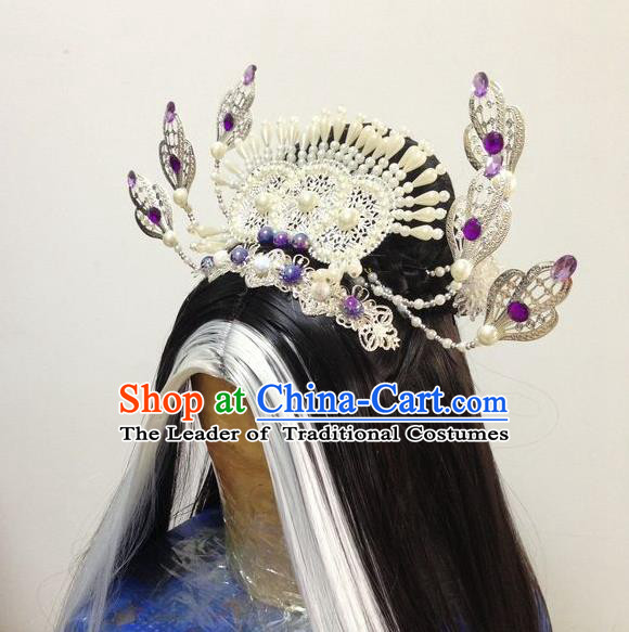 Chinese Traditional Ancient Queen Hair Accessories Hairpins Step Shake Phoenix Coronet for Women