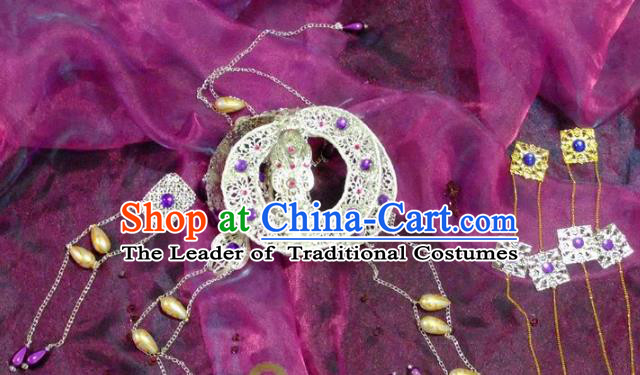 Chinese Traditional Ancient Hair Accessories Hairpins Handmade Tassel Step Shake for Women