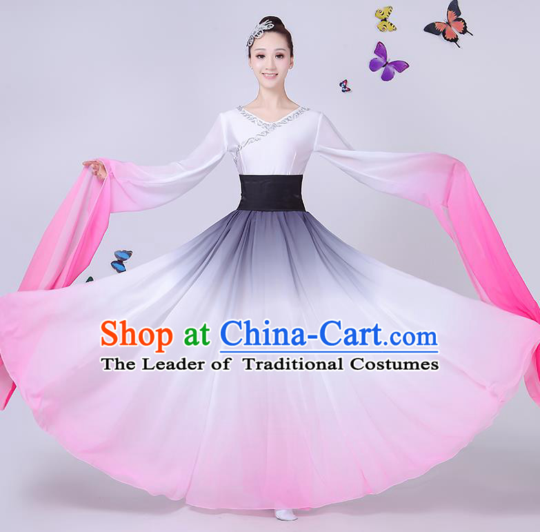 Traditional Chinese Yangge Fan Dancing Costume Classical Dance Modern Dance Dress Clothing