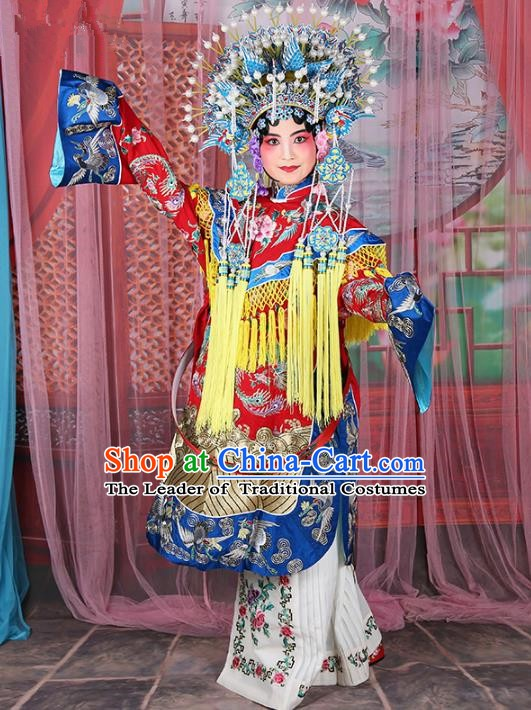 Chinese Beijing Opera Actress Imperial Concubine Costume Embroidered Robe, China Peking Opera Diva Clothing