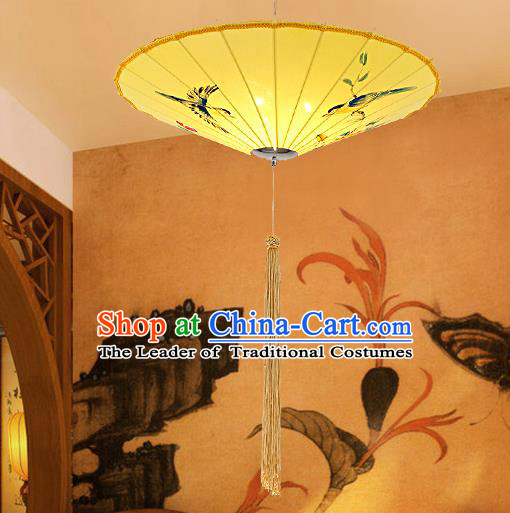 Traditional Chinese Handmade Painting Flowers Birds Palace Lantern China Ceiling Palace Lamp