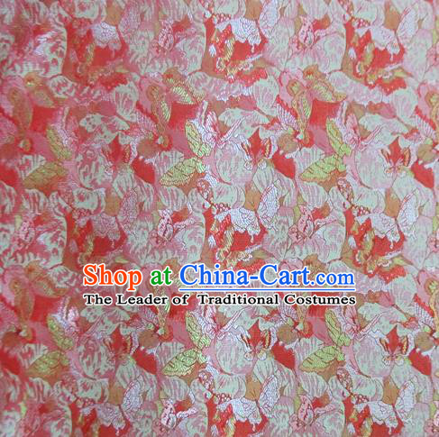 Chinese Traditional Costume Royal Palace Jacquard Weave Satin Red Brocade Fabric, Chinese Ancient Clothing Drapery Hanfu Cheongsam Material