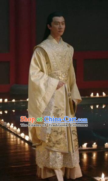 Traditional Chinese Tang Dynasty Palace Prince Costume, China Ancient Nobility Childe Embroidered Clothing for Men