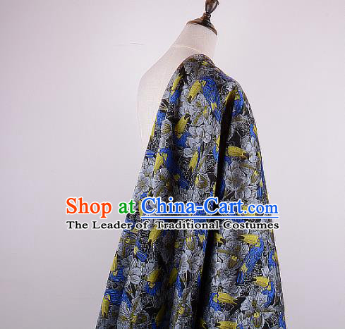 Chinese Traditional Costume Royal Palace Printing Woodpecker Brocade Fabric, Chinese Ancient Clothing Drapery Hanfu Cheongsam Material