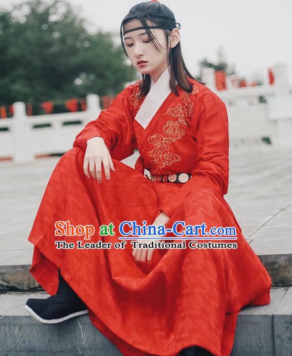 Traditional Chinese Ming Dynasty Swordswoman Clothing Ancient Imperial Bodyguard Hanfu Embroidered Costume for Women